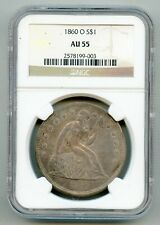 1860 O Seated Liberty Silver Dollar NGC AU 55