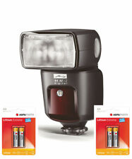Metz Mecablitz 44 AF-2 Digital Flash for Canon Incl. 4 Aa Lithium Accessory Set