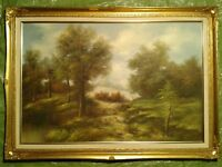 Original oil painting. Traditional English Country Scene. 1050mm x 750mm.