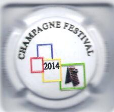 Capsule de champagne  Henri David Heucq  N°39 Champagne festival 2014 en relief