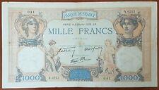 Billet de 1000 francs CÉRÈS et MERCURE 2 février 1939 FRANCE N.6253