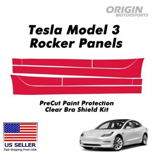 PreCut Rocker Panels Paint Protection Clear Bra Guard Kit PPF For Tesla Model 3