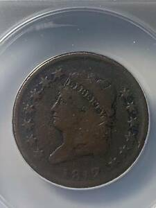 Large Cents Classic Head 1812  ANACS VG-8   S-291 Small Date