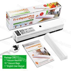 Automatic Vacuum Food Sealer Machine For Fresh Foods Both Dry&Wet 15 Vacuum Bags