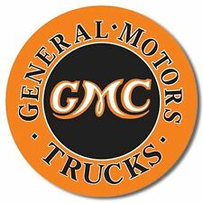 GMC GENERAL MOTORS TRUCKS NEW ROUND METAL SIGN WITH FORMED EDGE FREE US SHIPPING