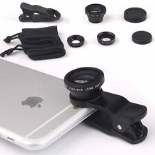 3in1 Camera Lens Kit: Fish Eye + Micro + Wide Angle for Google Pixel Smartphone