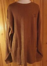 86c65ad15f South Pole Mens Pull Over Cotton Sweater Size Large Solid Brown