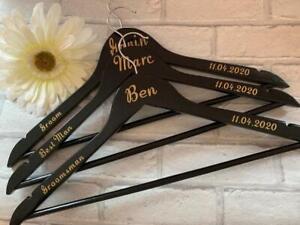 Personalised Groomsman Hangers, Suit Hangers, Personalised Wedding Hangers