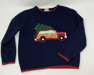 Red Truck Moving Co Boys Christmas Sweater Sz 5
