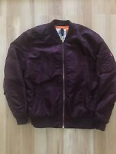 Rare 2011 Supreme MA-1 Jacket Burgundy FOG BOX LOGO YEEZUS IAN CONNOR