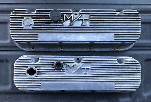 VINTAGE Mickey Thompson Big Block Chevy BBC M/T VALVE COVERS 103R-48B