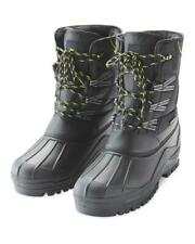 BNWT Para Hombre/Antiguos Chicos Grúa De Esquí/Botas De Nieve UK 7/EU 41 Invierno Negro Acolchado