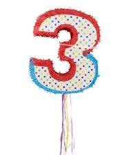 Pinata numero 3 MESSICO PARTY CANDY Stash PARTYSPIEL festa di compleanno bambino