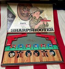Vintage 1965 Sharpshooter Trophy Hunt Target Game Rubber Band Gun Shoot Cadaco