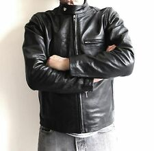OUTLAW CYCLE PRODUCTS MENS LEATHER CAFE RACER MOTORCYCLE JACKET SIZE XL