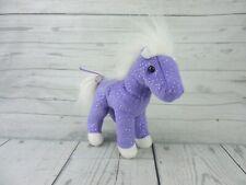"Douglas Crystal The Purple Sparkle Horse Plush 7"" Stuffed Animal Toy Gift"