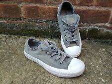 Converse Women's UK 5 Chuck Taylor All Star Suede Low Tops Trainers Grey