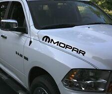 2 MOPAR Truck car vinyl 4x20 decal rebel sticker Dodge Ram hood both sides Hemi