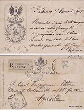 # PALERMO: XII CORPO d'ARMATA- autografa Gen. GUY 1905