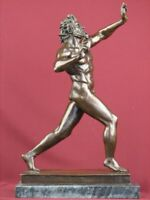 BRONZE NUDE MALE SCULPTURE FAUN MYTHOLOGY SATYR STATUE LIMITED EDITION  MARBLE
