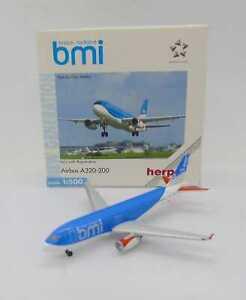 31322 HERPA WINGS / GERMANY / AIRBUS A320-200 BMI BRITISH MIDLANDS G-MIDV 1/500