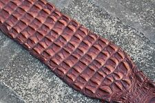 Genuine Crocodile Backstrap Leather Hide Earthly Russet