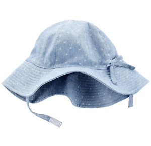 Carter's Baby Girls' 4th Of July Chambray Sunhat 12-24 Months