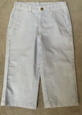 Wes And Willy Clam Diggers Seersucker Pants Boys Size Sm~8-10 Cotton Euc
