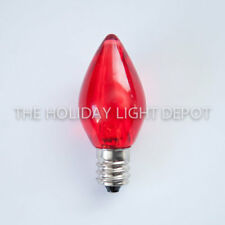Box of 25 C7 Red LED Christmas Light Bulb Smooth LED Retro Fit Dimmable