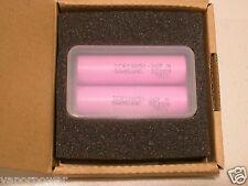 2 SAMSUNG ICR18650 Li-Ion RECHARGEABLE BATTERY 2600mAh 26F 3.7v 18650 w/ case