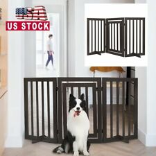 Wooden Folding Pet Dog Gate Fence31.5