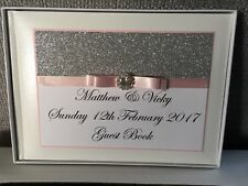GLITTER WEDDING GUEST BOOK PERSONALISED WEDDING GUEST BOOK ROSE GOLD ANY COLOUR