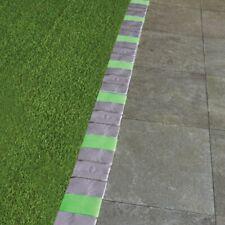 15 Piece Grey Stone-Styled Glow in the Dark Garden Border Edging - Covers 8 Feet