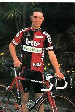 CYCLISME carte cycliste FABIEN DE WAELE équipe LOTTO MOBISTAR 1997