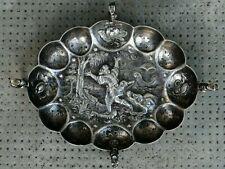Tastevin argent nurnberg XVII? German silver Branntweinschale brandy bowl