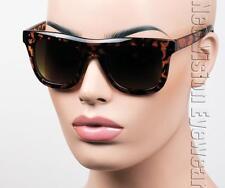 Oversized Large Wayfarer Sunglasses Retro Gradient Brown Tortoise 702