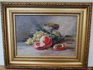 """Still Life """"fruit with Silver Chalice""""  by James Allan"""