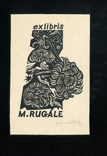 EXLIBRIS,065a, Dusan Janousek - Iris Germanica