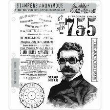 Tim Holtz Cling Stamps - The Professor 2 - NEW!
