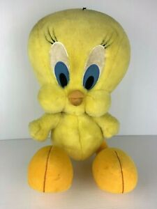 Vintage Looney Tunes Large Tweety Bird Warner Bros Store Plush 50 cm