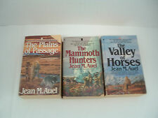 Jean M. Auel earth children series 3 PB book lot the valley of horses