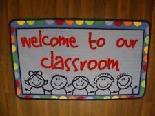 NEW KIDS NON SLIP BACKING 60X100CM MATS/RUG SCHOOL/HOME WELCOME TO OUR CLASSROOM