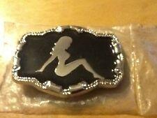 "Trucker's ""Mudflap"" Girl New Pewter Belt Buckle vehicle"