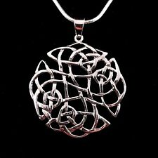 Handcrafted Solid 925 Sterling Silver Large Celtic SHIELD KNOT Pendant Amulet