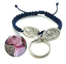 St Francis Medal Bracelet & Dog Tag - Pet and Owner Gift - Patron Saint Animals