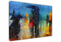 ROMANCE IN THE RAIN LARGE CANVAS PRINT LANDSCAPE / WALL ART OIL PAINTING REPRINT