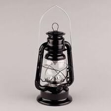 "11.5""H Black Hurricane LED Lantern"