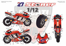 "[FFSMC Productions] Decals 1/12 Ducati GP7 2007 ""Codes Barres"""