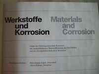 Werkstoffe Korrosion Materials Corrosion Korrosionschutz Forschung 37. Jg. 1986