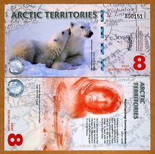Arctic Territories, $8, 2011, Polymer UNC > Polar Bears